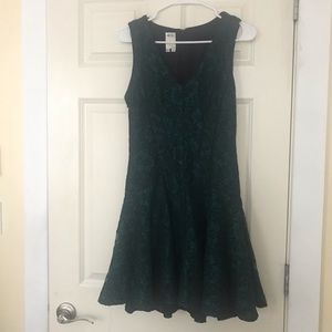 Dark green lace dress